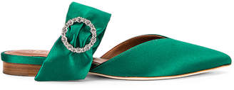 Malone Souliers Maite Crystal MS Flat in Emerald | FWRD