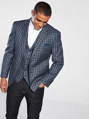 Skopes ModinaChecked Suit Jacket - Grey/Navy