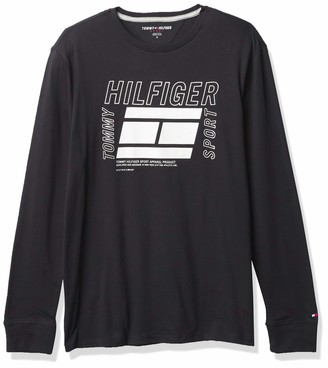 Tommy Hilfiger Men's Sport Long Sleeve Graphic T Shirt