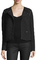 Elizabeth and James Quincy Quilted Snap-Front Jacket, Black