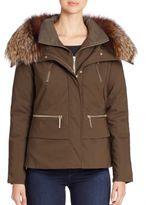 The Fur Salon Fur-Trimmed Jacket