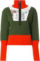 Kenzo block panel zipped jumper
