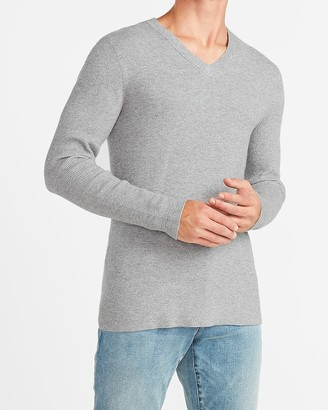 Express Marled Rayon Stretch V-Neck Sweater