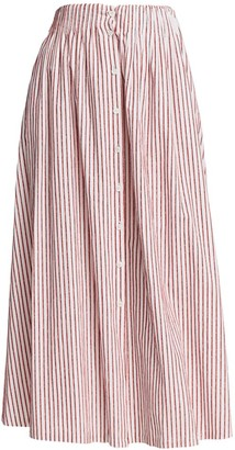 By Any Other Name Shirred A-Line Tea Skirt