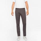 Paul Smith Men's Slim-Fit Dark Grey Stretch-Cotton Twill Trousers