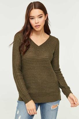 Ardene Knit V-Neck Sweater