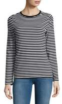 Lord & Taylor Striped Cotton-Blend Tee