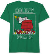 Peanuts Peanut's Snoopy & Woodstock Holiday Goals T-Shirt, Little Boys