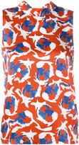 L'Autre Chose sleeveless printed top - women - Silk - 40