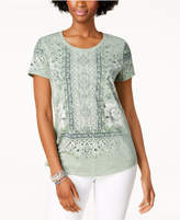 Style&Co. Style & Co Graphic Scoop-Neck T-Shirt, Created for Macy's
