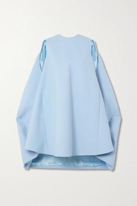 Nina Ricci Draped Wool-blend Mini Dress - Light blue