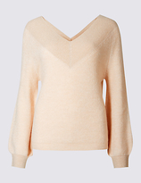 Per Una Textured V-Neck Jumper