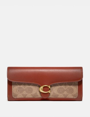 Coach Tabby Long Wallet In Colorblock Signature Canvas