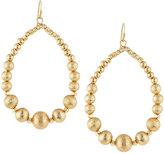 Lydell NYC Textured Golden Beaded Teardrop Earrings