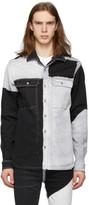 Rick Owens Black and Grey Denim Outer Shirt