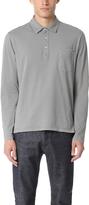 Officine Generale Garment Dye Polo Shirt