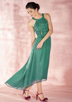 Brave New Whirl Maxi Dress in Fern in XXS - Sleeveless by ModCloth