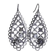 Black Flower Trellis Earring