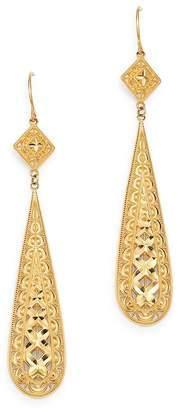 Bloomingdale's Filigree Teardrop Earrings in 14K Yellow Gold - 100% Exclusive
