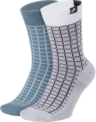 Nike Men's Sportswear 2-pack SNKR Sox Crew Socks