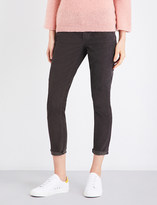 Current/Elliott The Stiletto skinny cropped high-rise corduroy jeans
