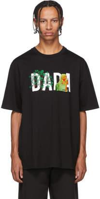 Christian Dada Black Logo Embroidery T-Shirt