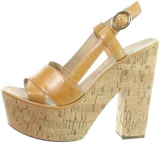 Diane von Furstenberg Camel Leather Heels