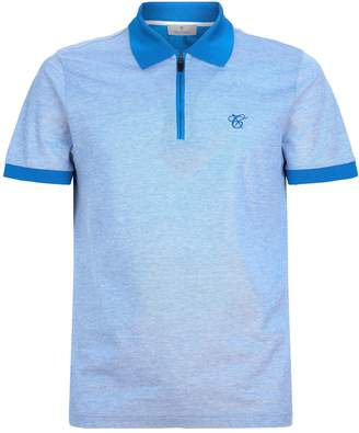 Canali Logo Embroidered Polo Shirt