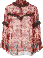 Anna Sui Painted Posey Border Top