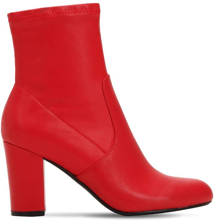 bb21205eaed 90MM ACTUAL FAUX LEATHER BOOTS