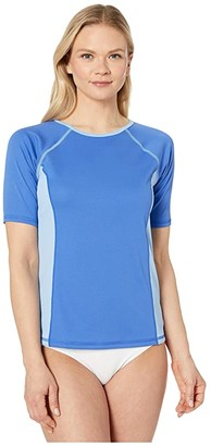 Speedo Short Sleeve Swim Tee (Hyper Blue) Women's Swimwear