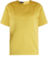 Rochas Short-sleeved duchess-satin top