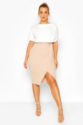 boohoo Plus Colour Block Midi Dress