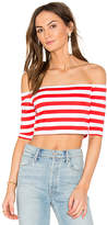 Susana Monaco Sabrina Top in Red. - size L (also in M,S,XS)