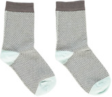 Bonton Jacquard Two-Tone Socks