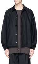 Attachment Brushed wool-cashmere coach jacket