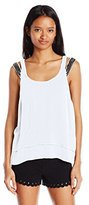 XOXO Women's Double-Strap Top