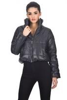 AX Paris Black Wet Look Puffer Jacket