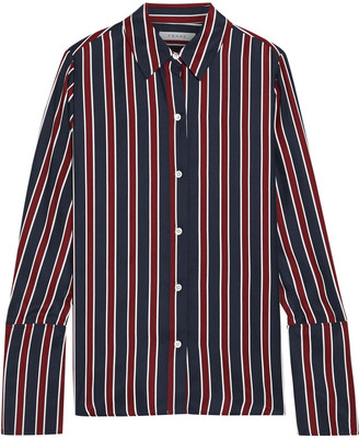 Frame Pj Striped Washed-silk Shirt