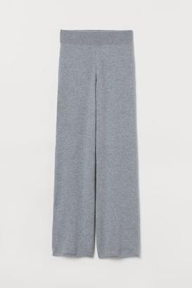 H&M Fine-knit Cashmere Pants - Gray