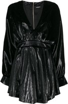 Balmain long-sleeve velvety dress