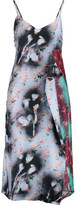 Acne Studios Clemente Asymmetric Printed Silk-Crepe Midi Dress