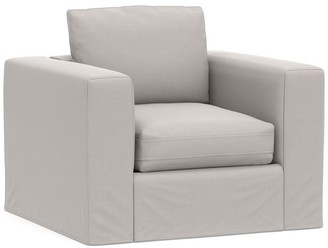 Pottery Barn PB Air Square Arm Slipcovered Armchair