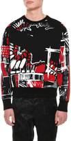 Versace Graphic-Print Cotton Sweatshirt