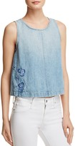 J Brand Talya Rose Embroidered Denim Top - 100% Exclusive