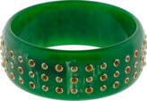 Mark Davis Green Bakelite Bangle