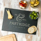 Dust and Things Personalised Mr And Mrs Slate Serving Board