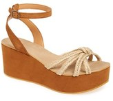 Topshop Women's 'Weave' Platform Wedge Sandal