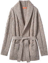 Joe Fresh Kid Girls' Speckled Long Cardi, Brown (Size L)
