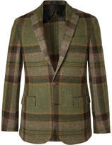 Polo Ralph Lauren Morgan Checked Wool And Alpaca-blend Blazer - Green